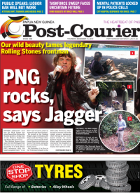 Mick Jagger on Narutu Is (Post Courier Picture)