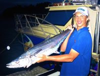 Jordan Barter with Mackeral caught in Project Recover (Fringe Benefits)