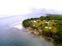 Tupira Surf Lodge from Drone